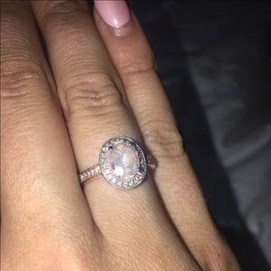 Jewelry - Gorgeous 14K Rose Gold Diamond and Morganite Ring